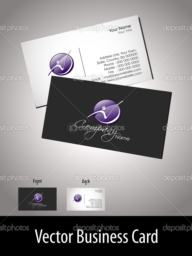 Vector professional business card with presentation — Векторная иллюстрация #7024887