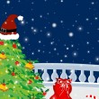 Royalty-Free Stock Vector Image: Background with merry christmas elements