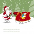 Merry christmas celebration card — Vector de stock #7061160
