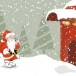 Merry christmas celebration wallpaper — Image vectorielle