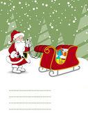 Merry christmas celebration card — Stock Vector