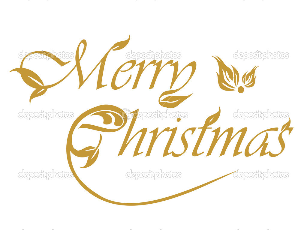 White background with artistic merry christmas  — Stock Vector #7060762