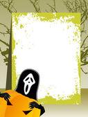 Vector grungy bnanner for halloween — Stock Vector