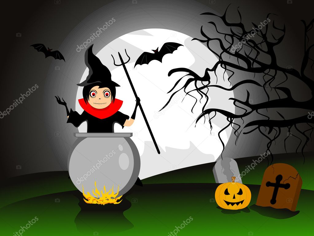 Spooky concept background for 30 october celebration   Stock Vector #7121186