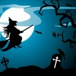 Royalty-Free Stock Vektorfiler: Spooky theme vector for halloween