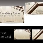 Vector abstract design business card — Stock Vector #7158767