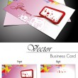 Vector set of business card and gift card — Stock Vector #7159239