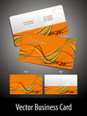 Wave theme background business card — Stock Vector