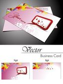 Vector set of business card and gift card — Stock Vector