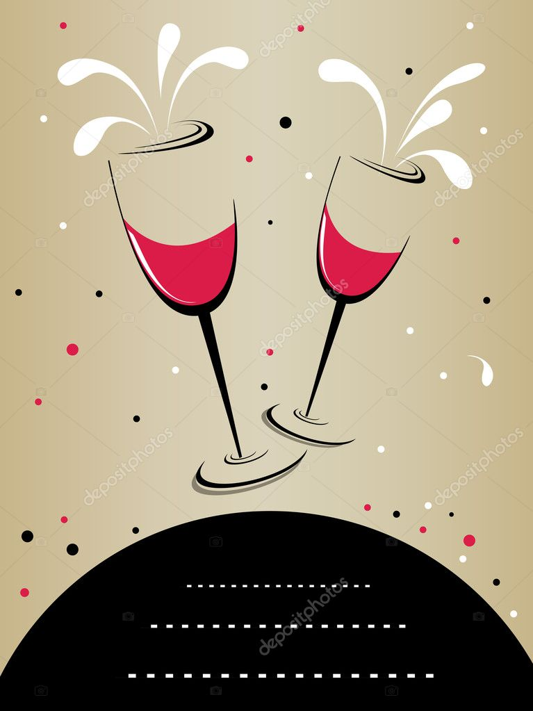 Abstarct background with artistic wine glass and space for text — Stock Vector #7154911