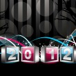 2012 Happy New Year greeting card or background — Stock Vector