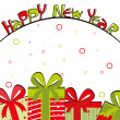 Creative &amp; colorful art work design for new year celebration - Stock Vector