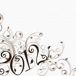 Elegant floral design vector for 2012 celebration — Stock Vector