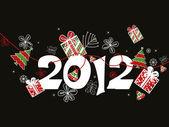 新年のお祝いのベクトル — ストックベクタ