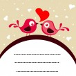 Vector love birds concept card — Stockvektor