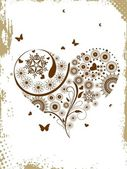Vector floral heart — Stock Vector