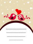 ベクトル愛鳥概念カード — ストックベクタ