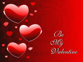 Vector romantic heart wallpaper for valentine day — Vettoriale Stock