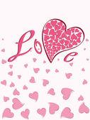 Vektorové romantická láska téma — Stock vektor