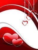 Romantic heart concept wallpaper — Stock Vector