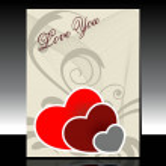 Elegent creative art work for valentine — Stock Vector