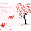 Vector creative art work for valentine's day — Vector de stock #7282538