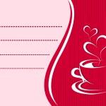 Vector invitaion card for coffee — Stock Vector #7282614