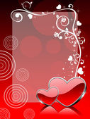 Wektor miłość tematu powitanie karta — Wektor stockowy