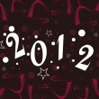 Cocktailglass shape back ground for new year celebration - Imagen vectorial