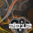 Abstract music background for happy new year - Imagen vectorial