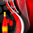 Vector de stock : Abstract background with champange bottle,glass