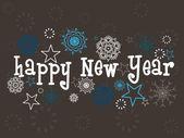 Tło płatki śniegu na nowy rok 2012 — Wektor stockowy