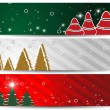 Stock Vector: A set of three website headers & banners for Christmas