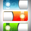 Set of three stylish header & banners for all occastions & celeb — Image vectorielle