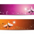 Set of two header for new year — Stock Vector
