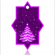 Christmas theme concept, violet color tag for Christmas & other — Stock Vector