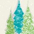 Vector decorative christmas tree presentation card for party - Stok Vektör