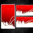 Set of three website header & banner for chirstmas & other occas - Vettoriali Stock
