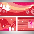 Set of header & wish card for christmas — Stock Vector #7616193