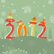 Greeting card with text 2012 for New Year, Christmas & other occasions. — Stock Vector