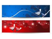 Banner abstracta para año nuevo — Vector de stock
