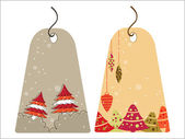 Set of christmas theme concept tags in gray and yellow color for — Stock Vector