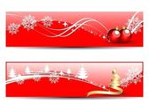 Set of two headers & banners of Christmas — Stock Vector