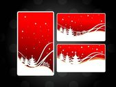 Set of three website header & banner for chirstmas & other occas — Stock Vector