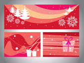 A set of header & wish card for christmas — Stock Vector