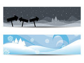 Set of two website headers & banners for other occasions — Stock Vector