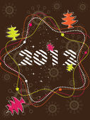 Decorative card with text 2012 presentation for Christmas & New Year — Stok Vektör