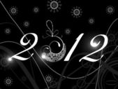 Artistic art work in shiny text 2012 for New Year & other occasions. — Stock Vector