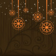 Beautiful wallpaper with shine Christmas balls. - 图库矢量图片