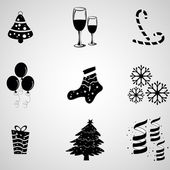 A set of vector object for Christmas, new year and winter. — Stock Vector